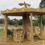 Strohskulpturen-Wettbewerb in Höchenschwand