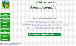 schwarzwald.com im Juni 1998